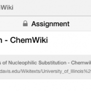 showing ChemWiki link