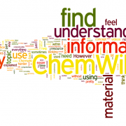 Word cloud of student responses to open-ended question about how easy or difficulty the ChemWiki is to use.